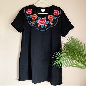 Umgee | Boho Floral Embroidered Dress